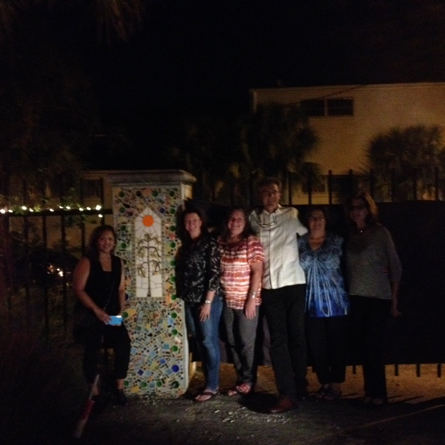Sarasota community mosaicers partying at the unveiling event.